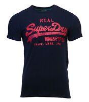 Superdry Mens Vintage Logo Rising Sun Short Sleeve Crew Neck Print T-Shirt Navy