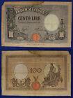 BANCA D' ITALIA Cento 100 Lire Vittorio Emanuele III Grande B 21-11-1933 #BI219