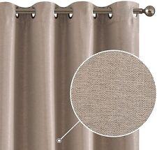 Drapes Textured Herringbone Window Curtains Room Darkening for Bedroom 2 Panels
