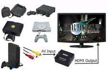RCA AV To HDMI HDTV Converter For Atari Jaguar 3DO Xbox Playstation 1 & 2 System