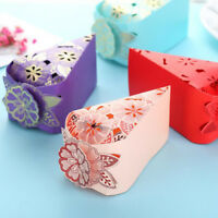 10 pcs Hollow Triangle Candy Box Wedding Cake Creative Favors Shower Gift Bags E