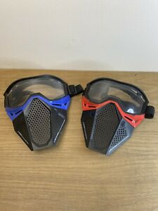 NERF Rival Face Masks X 2 - Pair Of Blue And Red Bundle