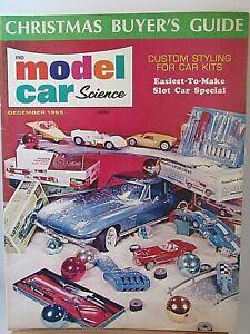 MODEL CAR SCIENCE MAGAZINE DECEMBER 1965 SLOT CAR SPECIAL RARE VINTAGE