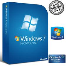 LICENZA MICROSOFT WINDOWS 7 PROFESSIONAL 32-64 BIT LABEL STICKER COA ATTIVAZIONE
