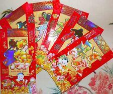 6 Pcs Large (U.S Bill Size) Colorful Lucky Money Envelopes, Pretty Colors