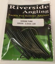 Shrink Tube Green  Sleeves  1.5mm X20 Carp Pike Fishing Terminal Tackle End Rig