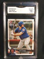 💎2018 Bowman Prospects Pete Alonso Rookie Card #BP137 New York Mets GEM MINT 10