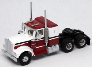 AthearnHO KW Kenworth Owner-Operator Truck Tractor White/Red/Blk ATH92658 CUSTOM