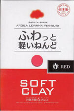 DAISO soft clay RED Arcilla Suave Lightweight Hand Craft Made in Japan F/S
