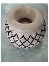 cendrier marocain avec motif anti  fumée poterie noir et blanc neuf