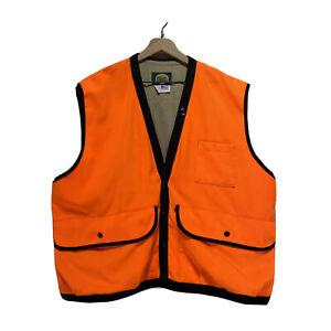 Made in USA! Cabela's Men's Hunting Shooting Vest Blaze Orange Size (XL)