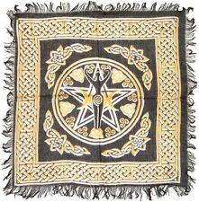 "Pentagram PENTACLE Goddess Altar Tarot Cloth 18"" x 18"" Wicca Pagan BEST PRICE !!"