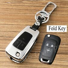 3 Button Metal Key Case Holder Bag Shell Box Trim For Chevrolet Aveo Sonic Cruze