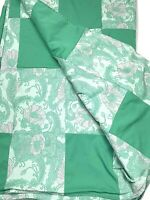 Vintage 50s - 60s Custom Hand Made Queen BedSpread Bedding Comforter Quilt Green