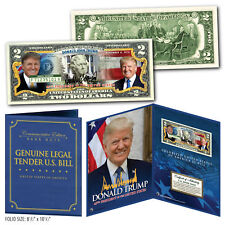 DONALD TRUMP 45th President Genuine U.S. $2 Bill in 8x10 Collectors Display