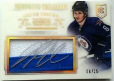 JERSEY NUMBER 8/25 1/1 JACOB TROUBA ROOKIE NATIONAL TREASURES PATCH PRIME AUTO