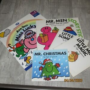 Mr men and little miss books x 5