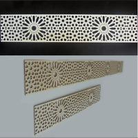 4 Stk Holzornament Bordüre Dekor Marokko - Ornament Design Verzierung Möbel Wand
