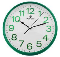 PERFECT Wall Clock GREEN Frame & Digits , Ticking, Sleek Design