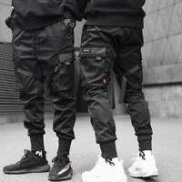 Men Casual Streetwear Joggers Cargo Pants Sweatpants Combat Sport Urban Trousers