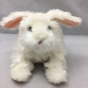 "FurReal Friends White Rabbit Pink Motion Electronic Hasbro Plush 9"" Toy 2011"