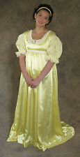 Light Yellow Regency Jane Austen Style 2 Piece Ball Gown Costume Medium Cosplay