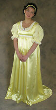 Light Yellow Regency Jane Austen Style 2 Piece Ball Gown Costume 4X Cosplay