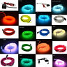 LED Light Glow El Wire String Strip Rope Car Dance Party + 3V 12V USB Controller