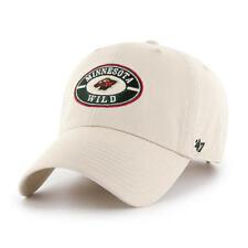 MINNESOTA WILD NATURAL WHEEL HOUSE CAP 47 BRAND CLEAN UP DAD HAT CURVE VISOR