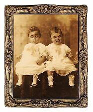 HUGE Demon Monster TWINS LENTICULAR PICTURE PORTRAIT Haunted House Decoration