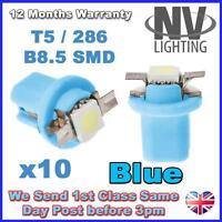 10x BLUE 509T T5 B8.5D TWIST LOCK 509 LED SPEEDO DASH BULBS UK
