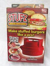 Stufz Stuffed Burger Press Hamburger Maker As Seen On TV Cooking Grilling BBQ