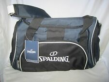"New W/ Tag  SPALDING Blue/Black Travel/Sports/White Duffle Bag 24"""