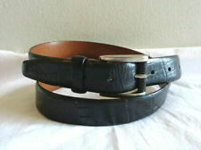Hugo Boss Sz 38 Black Croc Leather Belt 4723 Made in Germany
