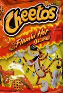 CHEETOS 'Flamin Hot' Crunchy scharfer Käse Mais Snack 240 gr Original USA