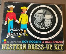 "1959 COLORFORMS ""ROY ROGERS & DALE EVANS WESTERN DRESS-UP KIT"" #2160 ORIG. BOX"