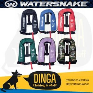 Watersnake Inflatable PFD Life Jacket Adult Level 150