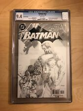 Batman 612 Sketch Variant 2nd Print CGC 9.4 NM DC 2003 Hush Superman Jim Lee