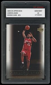 LEBRON JAMES 2003-04 UPPER DECK #25 1ST GRADED 10 ROOKIE CARD LAKERS/CAVALIERS