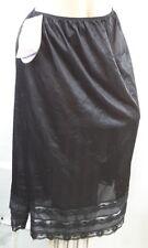"NEW VTG Movie Star Snip it Sheer nylon & lace Slip sz 26 28 Plus size 48"" waist"