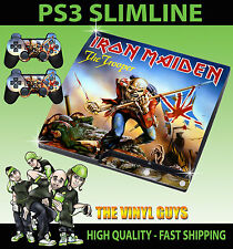 PLAYSTATION PS3 SLIM IRON MAIDEN TROOPER EDDIE UP THE IRONS SKIN & 2 PAD SKINS