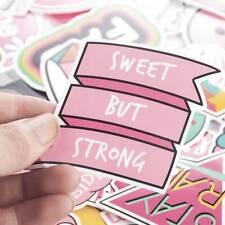 60Pcs PVC Waterproof Pink Girls Fun Sticker Toys Luggage Laptop Moto Car Decals