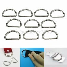 10Pcs 25mm Metal Sliver D Ring D-rings Purse Ring Buckles For Webbing Strapping