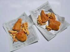 Barbie, Sindy doll food fish and chips in newspaper, the old way.