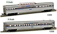 """N 1:160 Scale """"AMTRAK"""" 2 Car Passenger Set Model Power NEW 3043, 3053"""