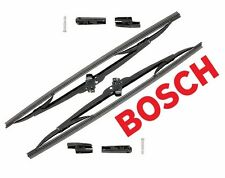 "Set of 2 Front Windshield Wiper Blades 17"" Bosch Micro Edge for Mazda Subaru"