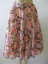 GEORGE FLORAL PRINT SEQUIN TIERED SKIRT SIZE 12 - NWT