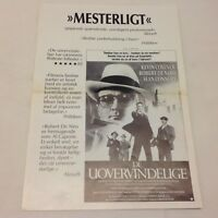 The Untouchables Sean Connery Kevin Costner Vtg 1987 Danish Movie Press Release