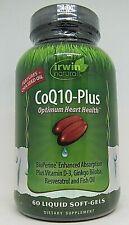 Irwin Naturals CoQ10-Plus 60 geles de suave líquido Exp 04/2021