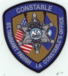 LOUISIANA ST TAMMANY PARISH CONSTABLE NEW PATCH POLICE SHERIFF